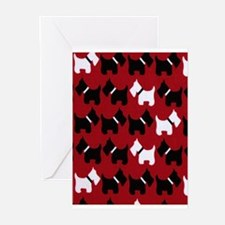 Scottie Dogs Red Greeting Cards
