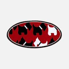 Scottish Terrier Scottie Dog Pattern Patch