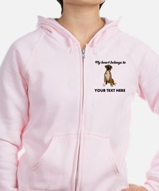 Personalized Boxer Dog Zip Hoodie