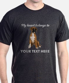 Personalized Boxer Dog T-Shirt