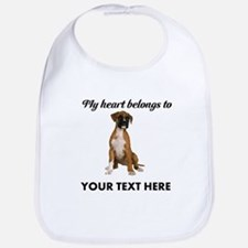 Personalized Boxer Dog Bib