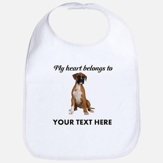 Personalized Boxer Dog Bib
