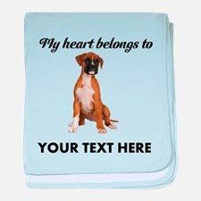 Personalized Boxer Dog baby blanket