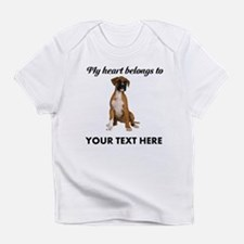 Personalized Boxer Dog Infant T-Shirt