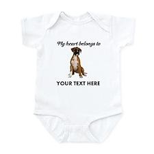 Personalized Boxer Dog Infant Bodysuit