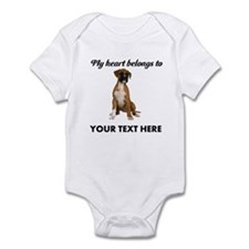 Personalized Boxer Dog Onesie