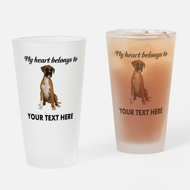 Personalized Boxer Dog Drinking Glass