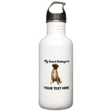 Personalized Boxer Dog Stainless Water Bottle 1.0L