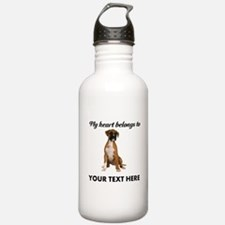 Personalized Boxer Dog Water Bottle