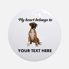 Personalized Boxer Dog Ornament (Round)