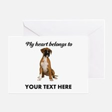 Personalized Boxer Dog Greeting Card