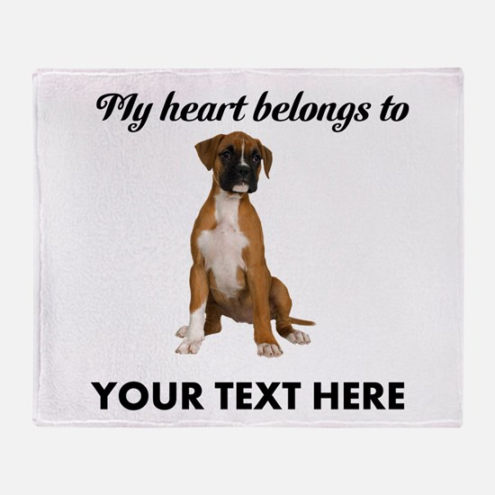 Personalized Boxer Dog Throw Blanket