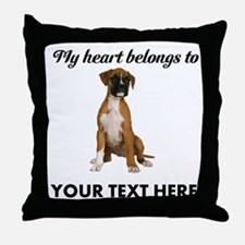 Personalized Boxer Dog Throw Pillow