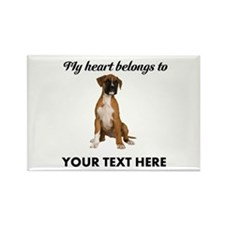 Personalized Boxer Dog Rectangle Magnet