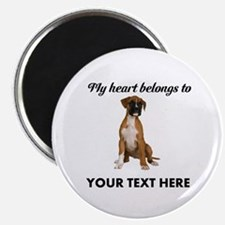 Personalized Boxer Dog Magnet