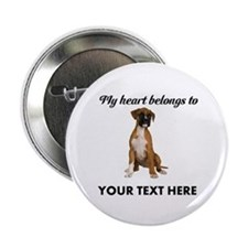 "Personalized Boxer Dog 2.25"" Button"