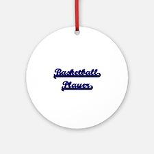 Basketball Player Classic Job Des Ornament (Round)