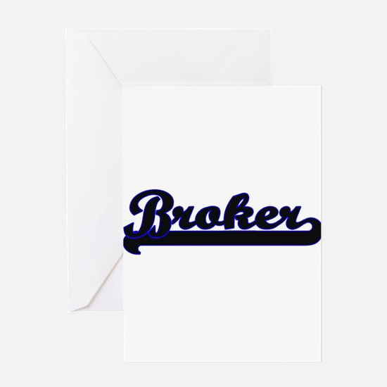 Broker Classic Job Design Greeting Cards
