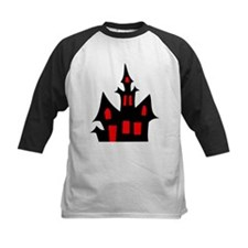 Black and Red Haunted House Baseball Jersey