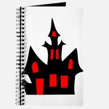 Black and Red Haunted House Journal