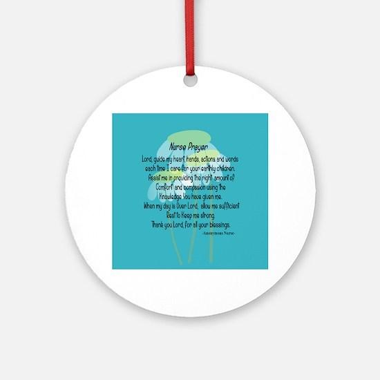 Nurse Prayer Ornament (Round)