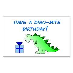 DINO-MITE BIRTHDAY! Rectangle Decal