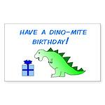 DINO-MITE BIRTHDAY! Rectangle Sticker