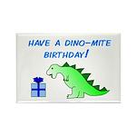 DINO-MITE BIRTHDAY! Rectangle Magnet (10 pack)
