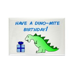 DINO-MITE BIRTHDAY! Rectangle Magnet (10 pack)