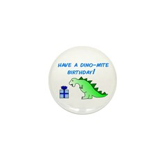 DINO-MITE BIRTHDAY! Mini Button (10 pack)