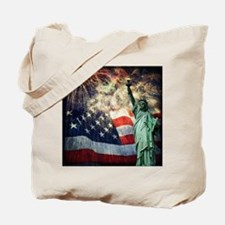 Statue of Liberty &  Fireworks Tote Bag