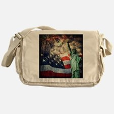Statue of Liberty &  Fireworks Messenger Bag