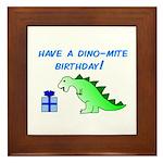 DINO-MITE BIRTHDAY! Framed Tile