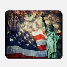 Statue of Liberty &  Fireworks Mousepad