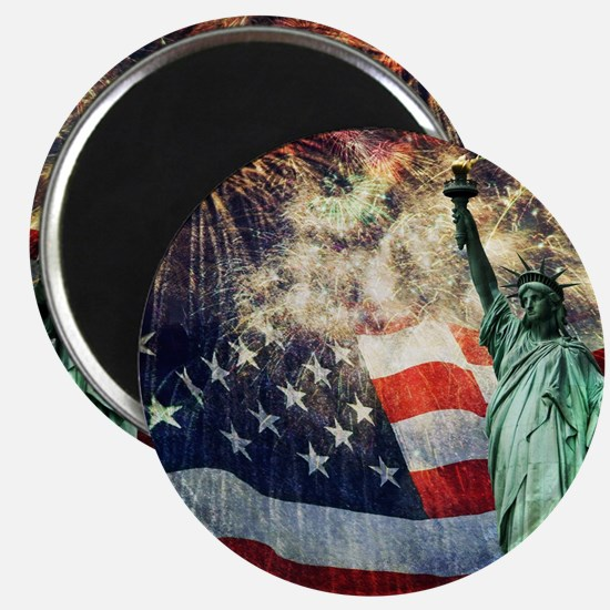 Statue of Liberty &  Fireworks Magnet