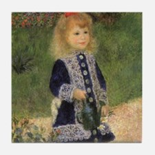 Renoir A Girl w Watering Can Tile Coaster
