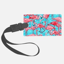 Pink Flamingos Luggage Tag