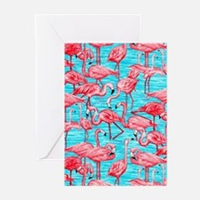Flamingos Greeting Cards