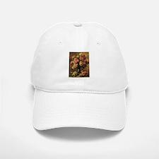 Roses in a Vase by Renoir Baseball Baseball Cap