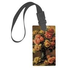 Roses in a Vase by Renoir Luggage Tag