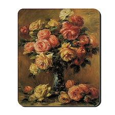 Roses in a Vase by Renoir Mousepad