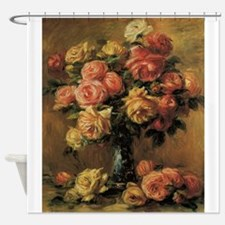 Roses in a Vase by Renoir Shower Curtain