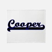 Cooper Classic Job Design Throw Blanket