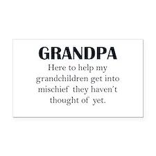 Grandpa Rectangle Car Magnet