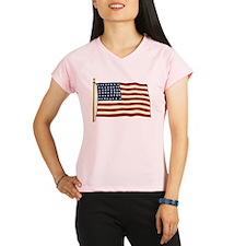 Vintage American Flag Performance Dry T-Shirt