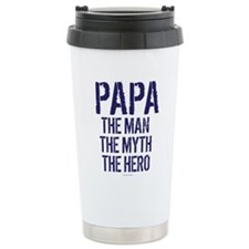 Papa Man Myth Hero Travel Mug