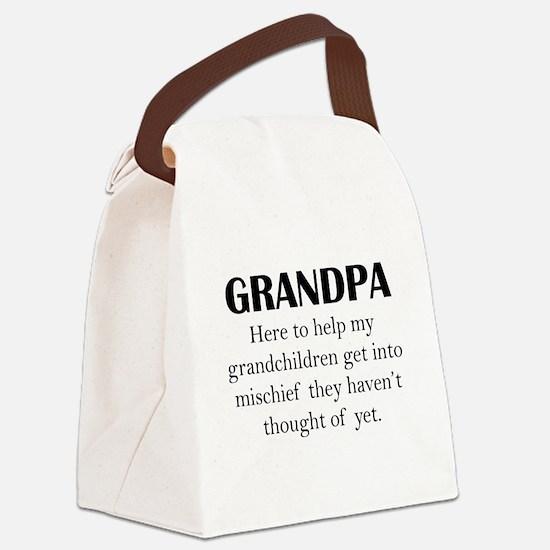 Grandpa Canvas Lunch Bag