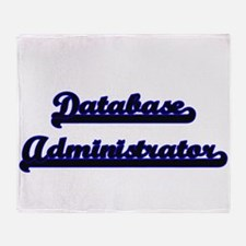 Database Administrator Classic Job D Throw Blanket