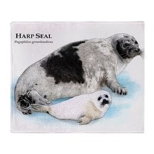 Harp Seal Throw Blanket