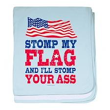 Stomp My Flag baby blanket